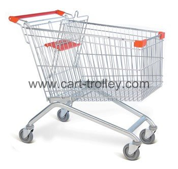 Supermarket shopping trolley European style