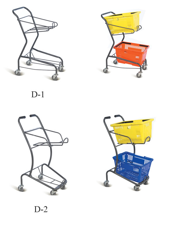 shopping trolley for handle basket